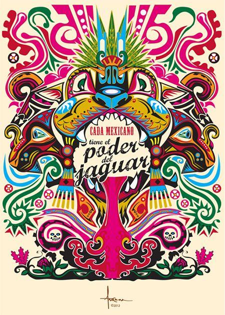 Mexico by Orlando Arocena #illustration #color #mexico