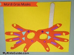 Mardi Gras Craft Madness: DIY Handprint Mardi Gras Mask for Kids