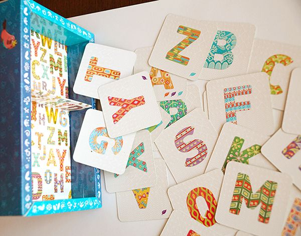 My illustrations for kid's board game, english alphabet #alphabet #abc #children #board_game #pattern #letter #text #font