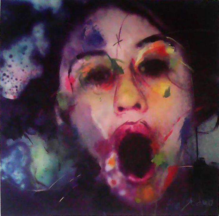 Ahí estoy pintada  *Disponible Pintura 70x70cm
