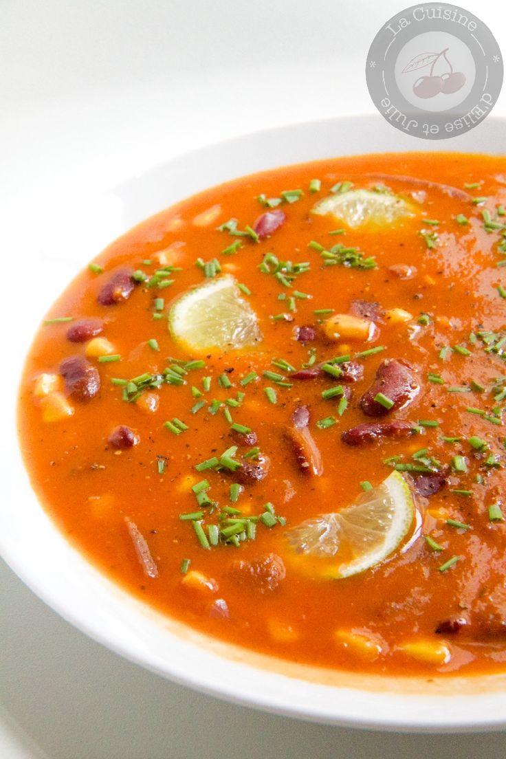 Soupe mexicaine épicée aux haricots rouges :: La cuisine d'Elise et Julie