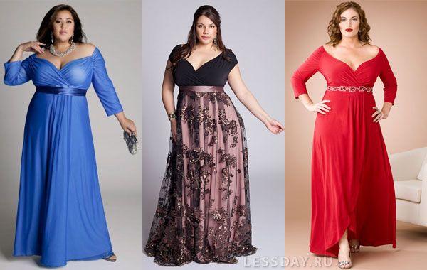 Вечерние платья для полных 2014: фото модных нарядов для полненьких женщин и девушек