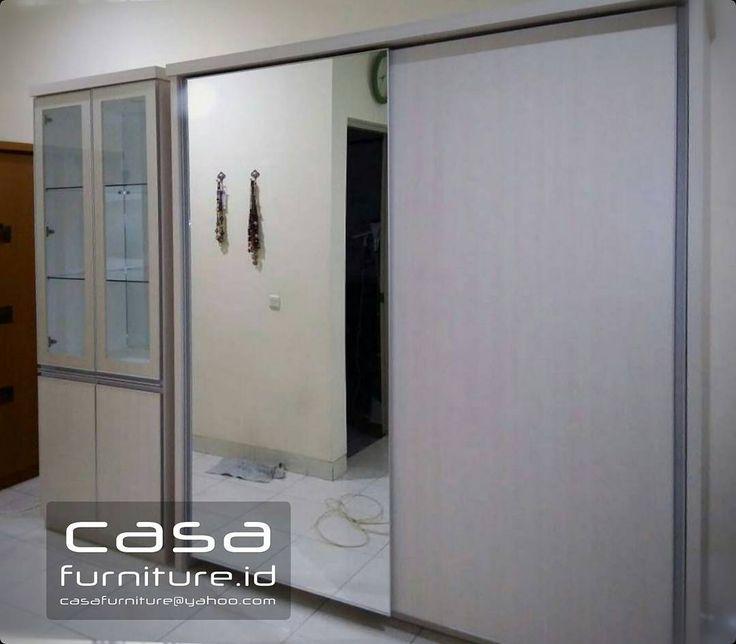 "413 Suka, 11 Komentar - KITCHEN SET,LEMARI MINIMALIS (@casafurniture.id) di Instagram: ""Lemari pakaian dan pajangan di Bintaro  #lemari #wardrobe #furniture #bintaro #tangerang…"""