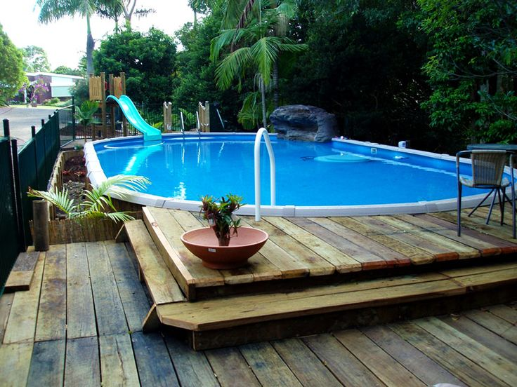 Luxury Backyard Swimming Poolsoval Above Ground Pool Deck best 25+ oval pool ideas only on pinterest | oval above ground