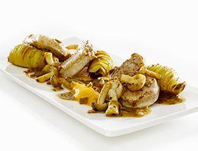 Almond Thins with Pork Tenderloin, Butternut & Truffle http://www.destrooper.be/en/recipe-ideas/ab-varkenshaasje-en-pompoen.aspx?recipe=4