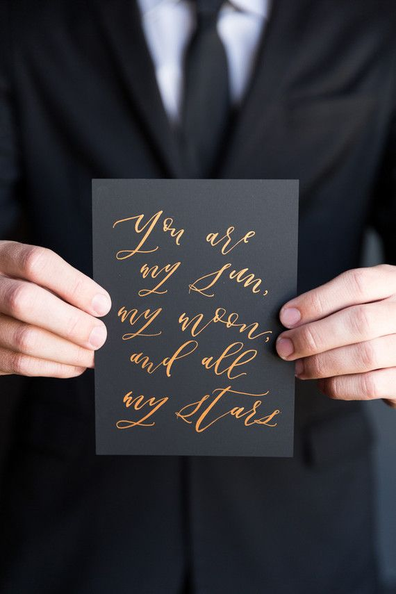Gold calligraphy | Wedding & Party Ideas | 100 Layer Cake