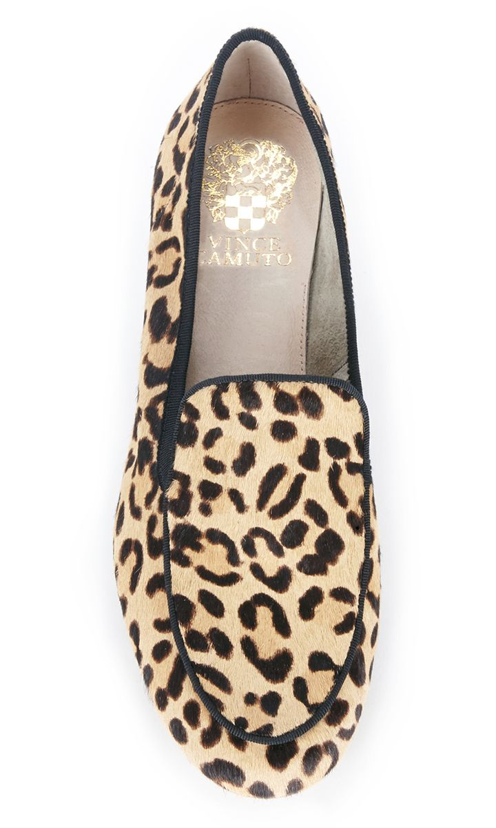 Classic leopard print haircalf loafers