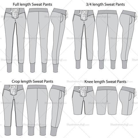 Free Fashion Flat Templates Trim Pack Fashion Design Drawings