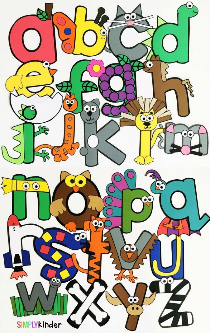 Alphabet Crafts & Printables Notebooks is a comprehensive set of alphabet crafts and printables. Staple these into a book or do individually.