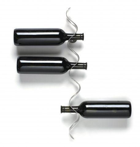 minimalistic wine rack