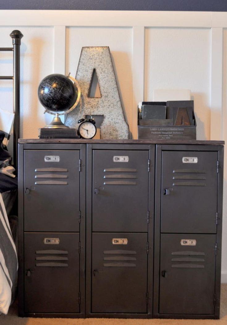 Holen Sie sich den Look: 7 Möglichkeiten, die Aufbewahrung mit Locker DIYs stilvoller zu gestalten