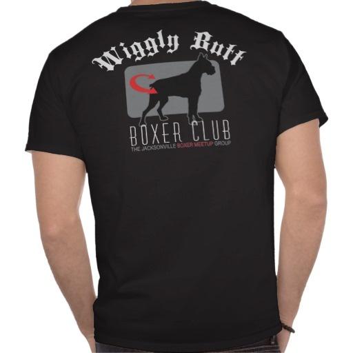 Wiggly Butt Boxer Dog Dark T-shirt
