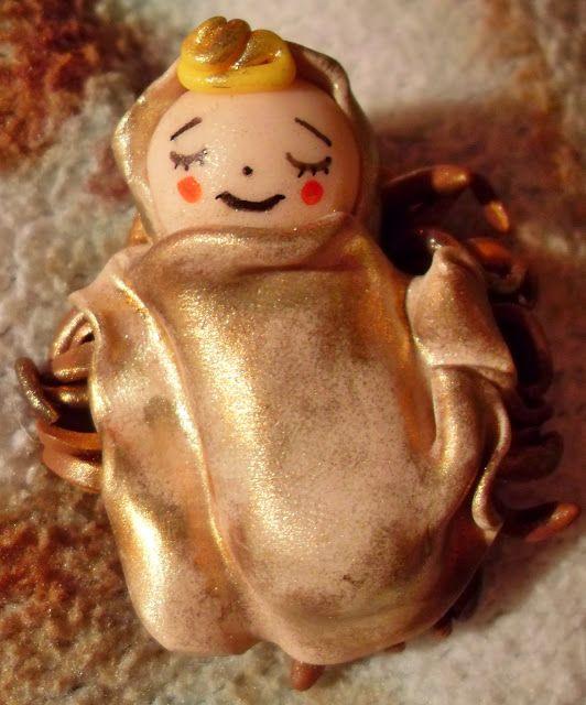 WitchCraft In Progress: The Holy Nativity made from polymer clay!! / Φατνη + Χριστουλης απο πολυμερικο πηλο??Ωωω ναι!!