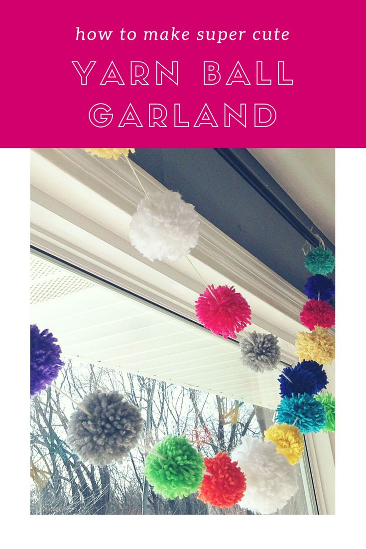 Turning tired yarn into yarn ball garland
