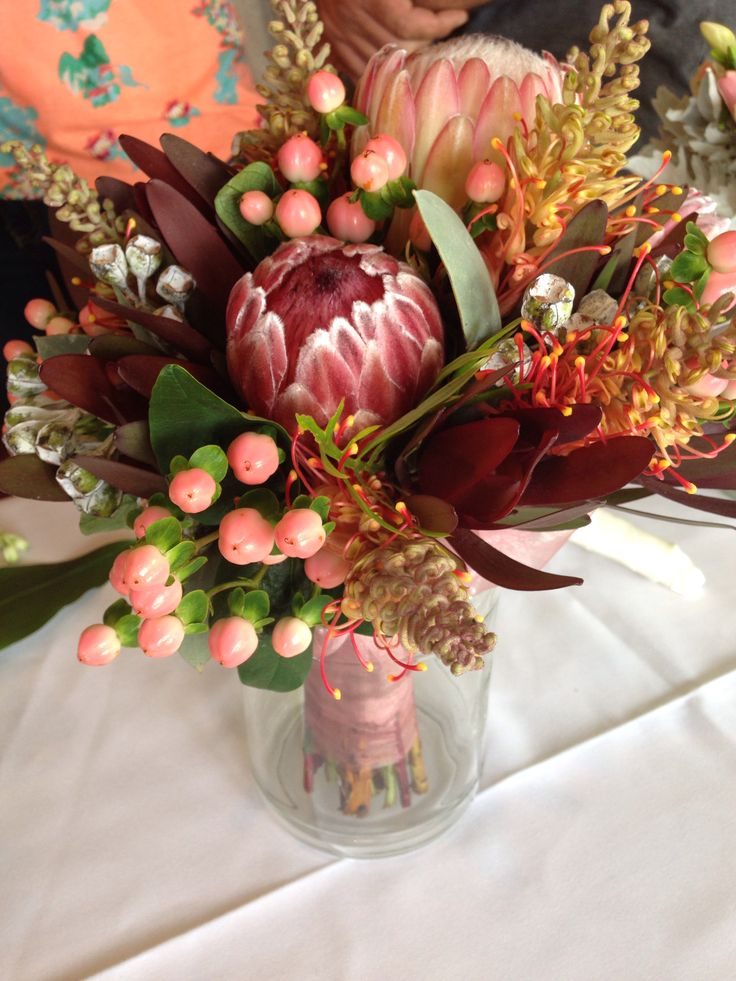 We could use some to decorate the place with. Australian natives wedding bouquet