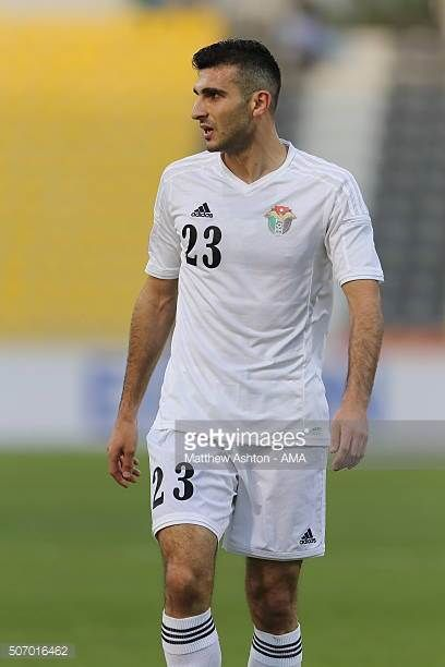 Ehsan Manel Haddad of Jordan during the AFC U23 Championship quarter final match between South Korea v Jordan at the Suhaim Bin Hamad Stadium on...