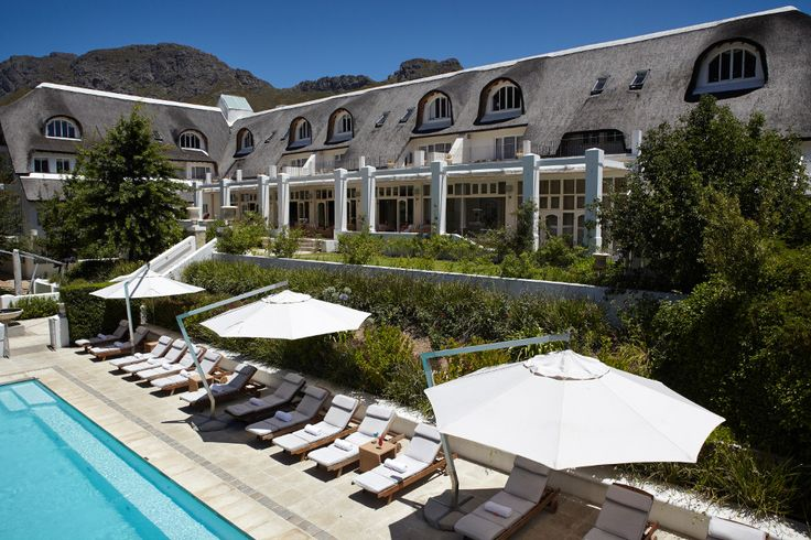 Dive into the pool at Le Franschhoek