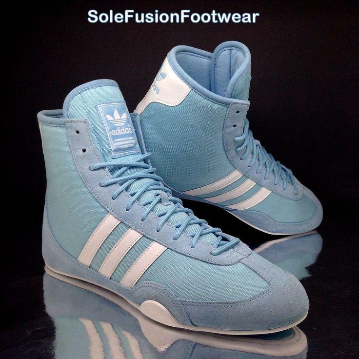 Vintage adidas Mens Freistil Wrestling Shoes Blue size 8 Boxing Boot Sneakers 42  | eBay