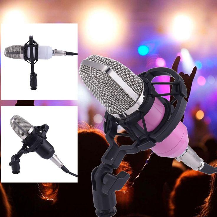 BM700 mikrofon Condenser Wired Microphone for Computer microfone condensador+shock mount+Windproof net+USB Audio Line mikrofon