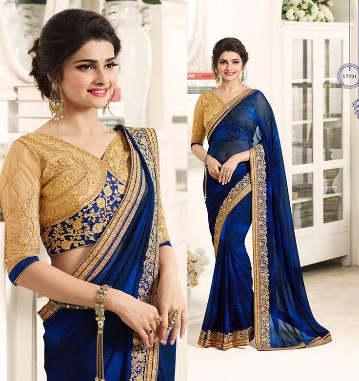 Designer Saree Indian Bollywood Party Wear Evening Dress Wedding Sari Blouse #Shoppingover #SariSaree