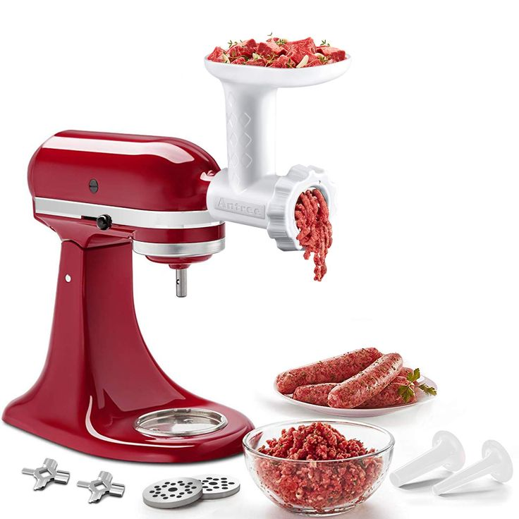 Food meat grinder attachments for kitchenaid stand mixers