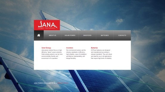 Our new website template design