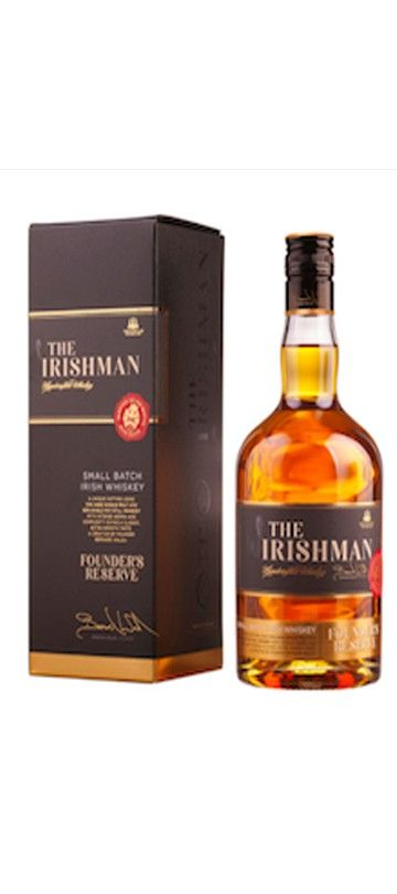 10% OFF for 6 or more bottles – automatically deducted at CHECKOUT   Country of Origin: Ireland The Irishman Founder's Reserve was inspired by the golden era in Irish Whisky distilling of the 1800s.
