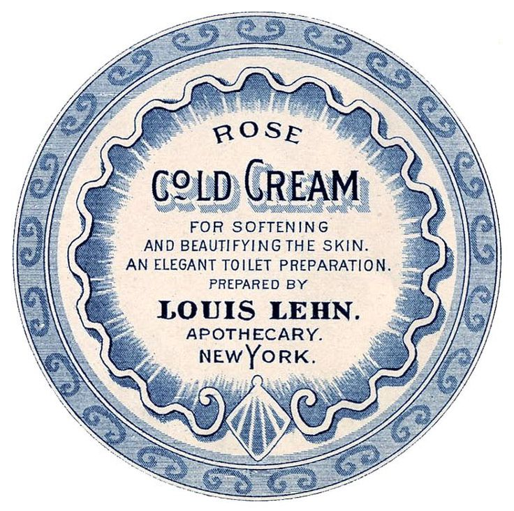 Antique Labels - Apothecary - Beauty Cream - The Graphics Fairy in 3 colors & plain