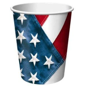 Creative Converting Red, White and True, Value Pack Hot or Cold Beverage Cups, 50 Count by Creative Converting. $13.99. Made in the USA; perfect supplies for a feminine birthday, baby shower, wedding engagement, reception etc... Holds 9-ounces. See Creative Converting's coordinating line of party goods and dinnerware. 50 Count cups. Red, white and true patriotic themed value pack size beverage cups. From the Manufacturer                America's birthday. Be proud to be an Amer...