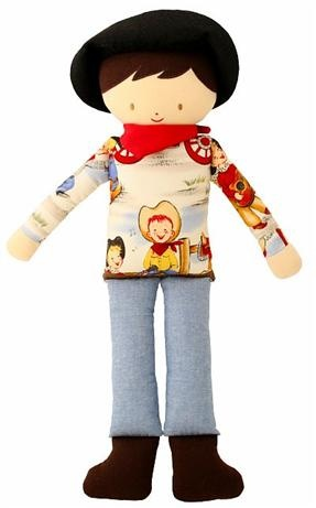 Alimrose Designs Cowboy Doll    Price: $47.95    Adorable cowboy doll by Alimrose Designs comes complete with cowboy hat and boots - sure to become a treasured toy!!
