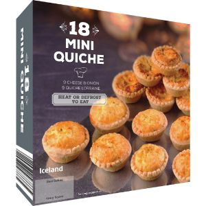 Iceland 18 Mini Quiche 388g | Party Food & Platters | Frozen | Iceland Groceries