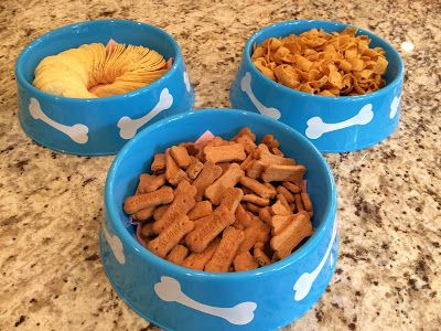Dollar Tree Dog Bowls - Paw Patrol Birthday Party