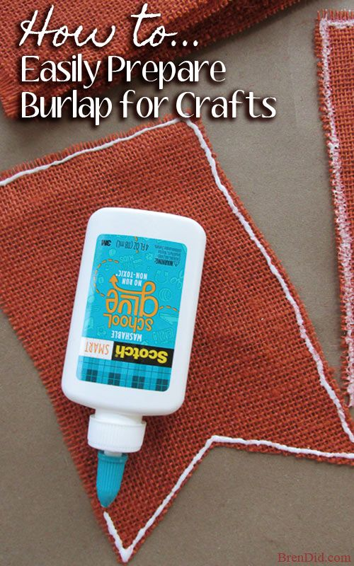 How to easily prepare burlap for sewing and crafts. Easy method to cut, straighten, stop fraying and deodorize!