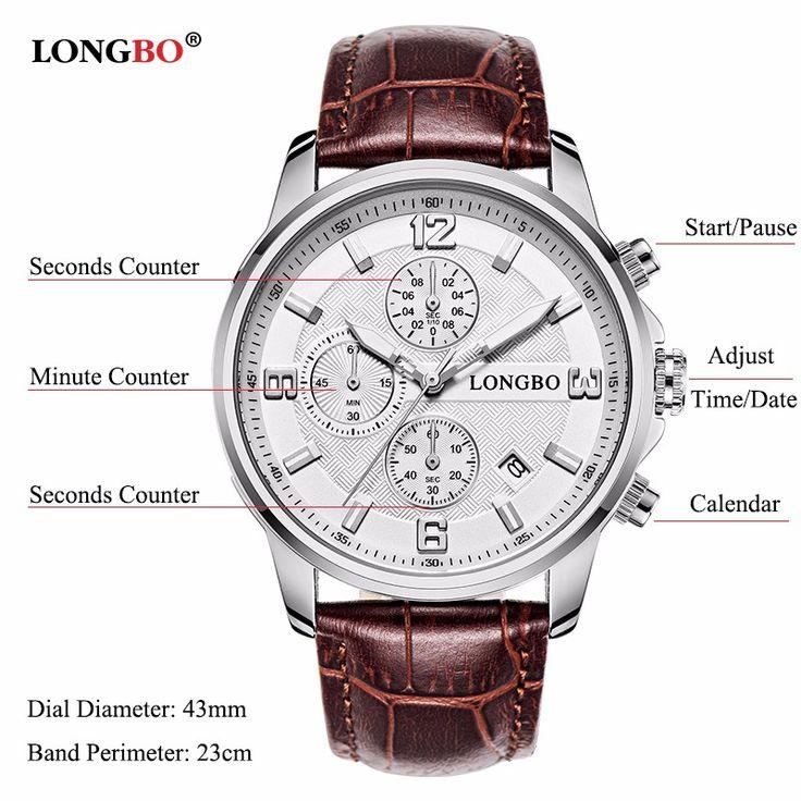 LONGBO Watch Stainless Steel Date Waterproof Luminous Sports Watch online - NewChic