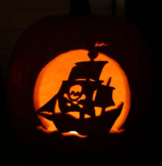 Pirate ship pumpkin jack o latern designs pinterest