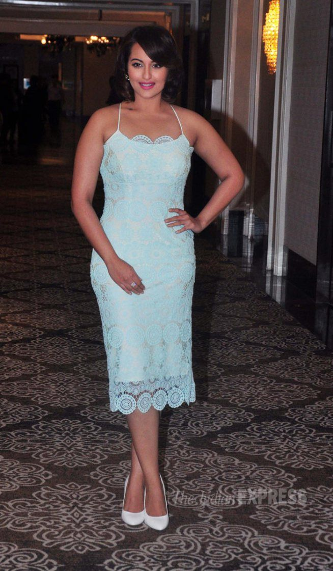 Sonakshi Sinha is a pastel delight at the launch of FGX International eyewear.