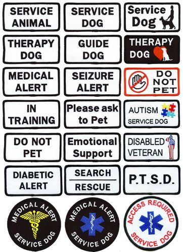 ALERT-- these are for TRAINED Service Dogs only. Please do not misuse these - peoples lives depend on these dogs maintaining access.