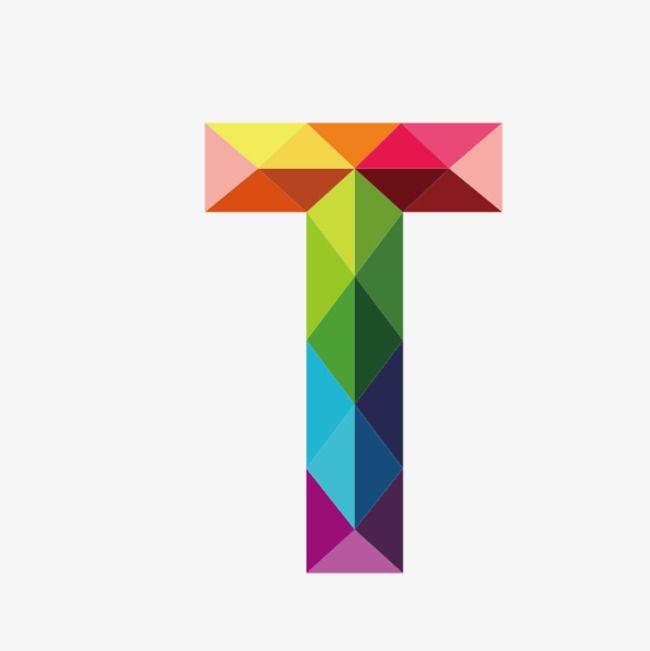 Colorful Letters T Alphabet Design Lettering Alphabet Polygon Art