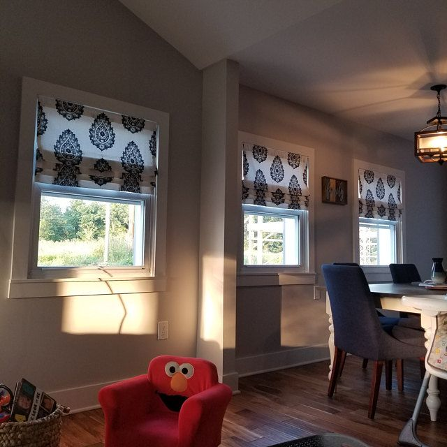Custom Relaxed Roman Shade Balloon Valance For Single Window Only