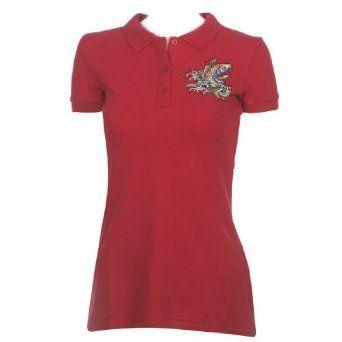 Ed Hardy Womens Koi Basic Polo Shirt - Red Ed Hardy. $29.00