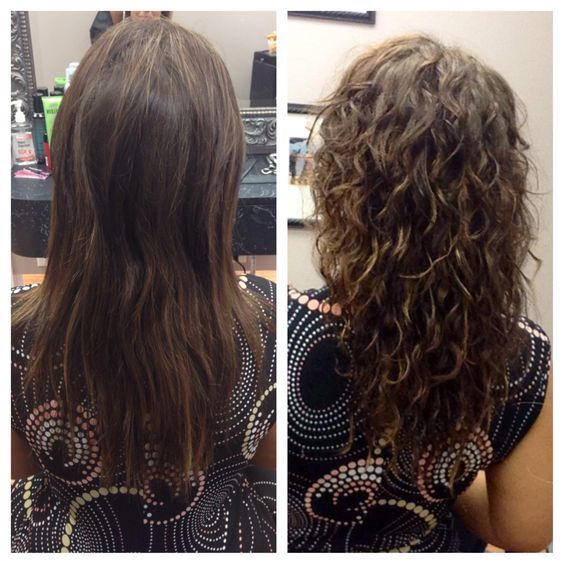 Body wave perm before and after: