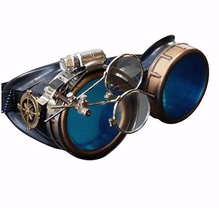 Steampunk Victorian Goggles welding Glasses diesel punk--gcg New  #umbrellalaboratory