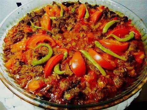 Auberginenkebab mit Rindfleisch/Osmanisches Rezept/dana etli patlican ke...