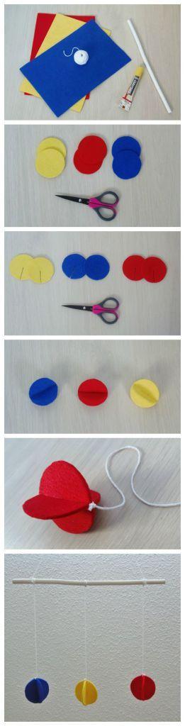 Móvil Montessori Colores primarios