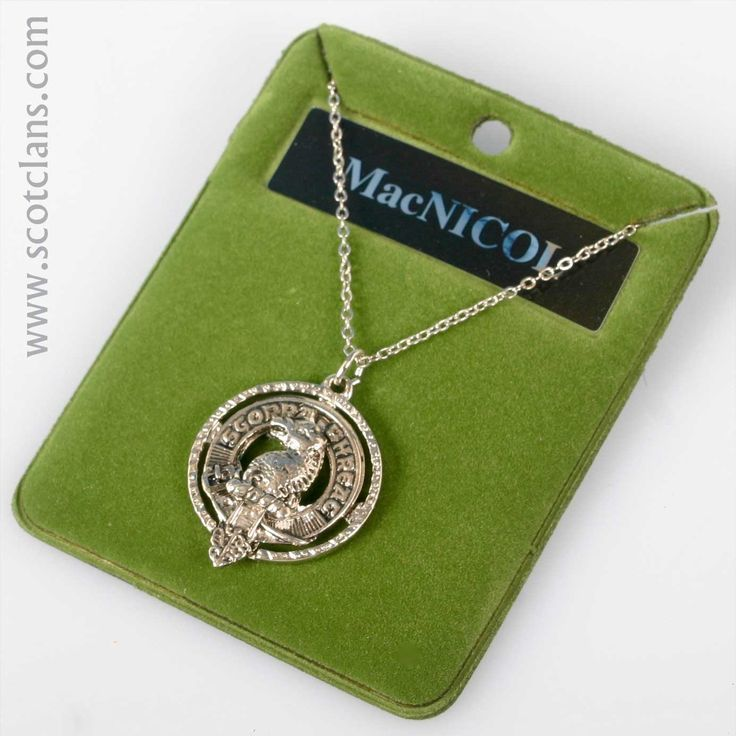 MacNicoll Clan Crest Pendant