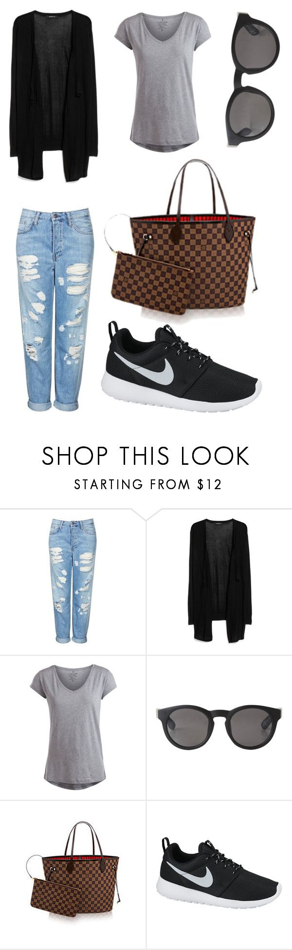 """""""Untitled #71"""" by pilvihelen on Polyvore featuring Topshop, MANGO, Pieces, Monki and NIKE"""