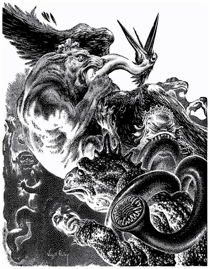Abercrombie Station. Virgil Finlay. (H.P. Lovecraft).