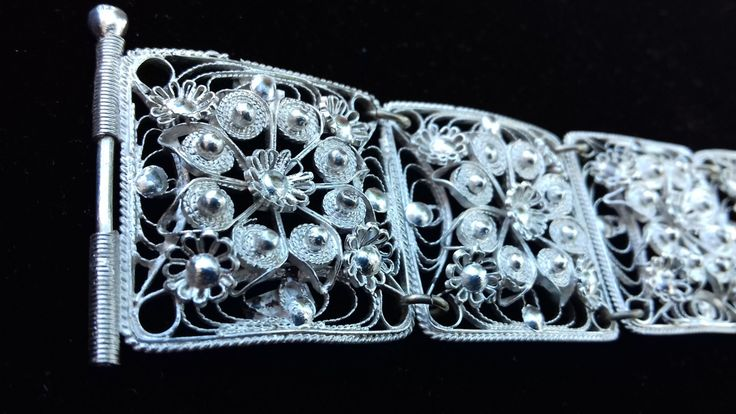 Silver Filigree Bracelet by ArtFiligreeKosHellas on Etsy