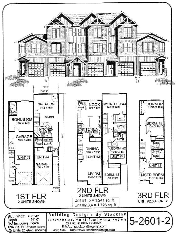 18 best multi family designs images on pinterest for Multi family apartment plans