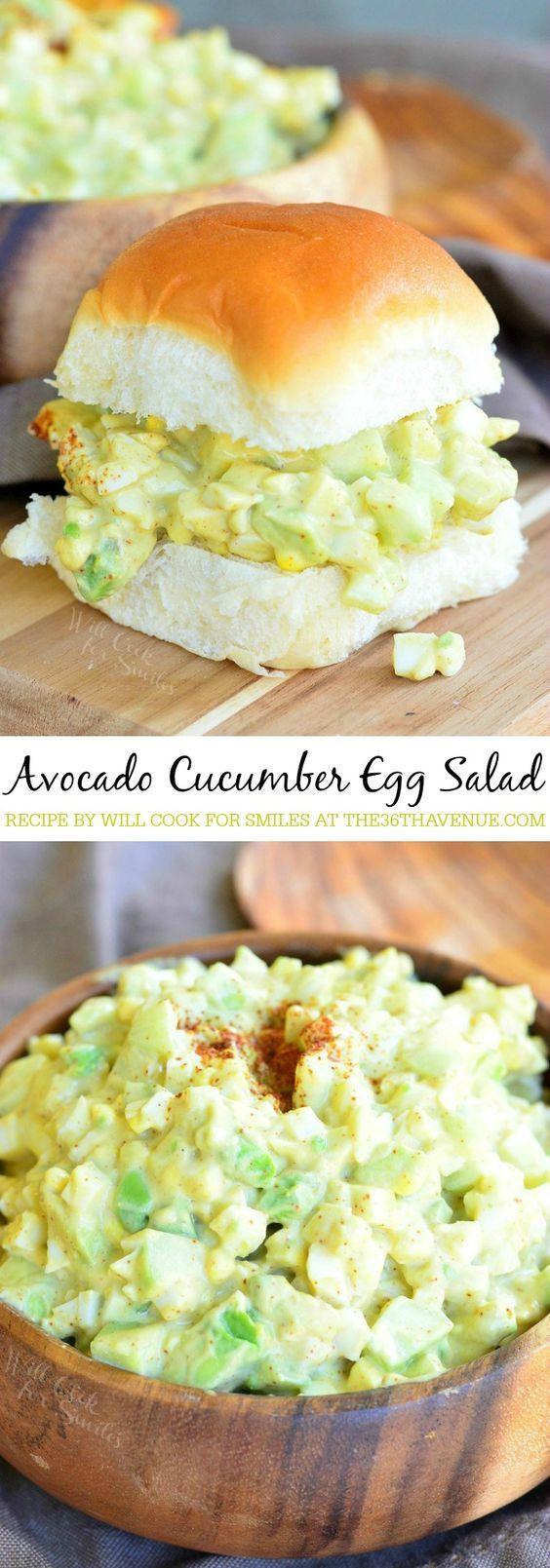 Avocado Cucumber Egg Salad | The 36th AVENUE | Bloglovin'